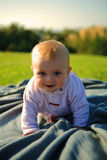 Baby is crawling Stock Photo