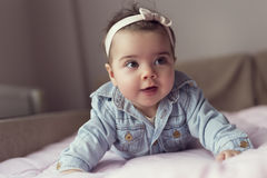 Baby crawling Royalty Free Stock Images