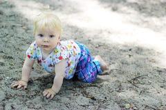 Baby crawling Stock Photos