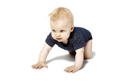 Baby Crawling On Knees Stock Photo