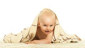 Baby crawling in nappy Royalty Free Stock Photo
