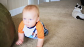 Baby Crawling Sequence stock video footage