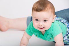 Baby Crawling Towards Camera Royalty Free Stock Photos