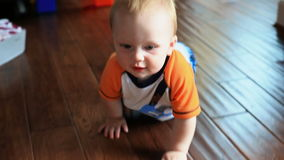 Baby Crawling stock video footage