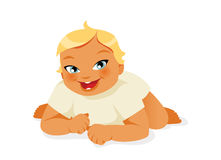 Baby crawling vector Royalty Free Stock Images