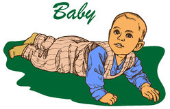 The baby crawls Royalty Free Stock Images