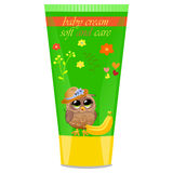 Baby cream tube with kids design Stock Images