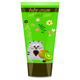 Baby cream tube with kids design Stock Photography