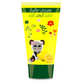 Baby cream tube with kids design Royalty Free Stock Photo