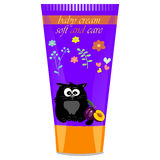 Baby cream tube with kids design Royalty Free Stock Image