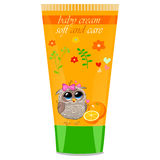 Baby cream tube with kids design Stock Image