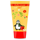 Baby cream tube with kids design Royalty Free Stock Images