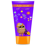 Baby cream tube with kids design Royalty Free Stock Photography