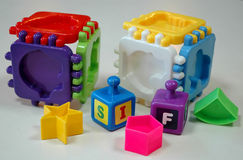 Baby creativity blocks. Early learning blocks and puzzle for creativity development Stock Photography