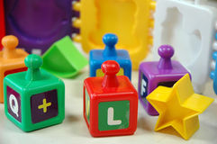 Baby creativity blocks. Early learning blocks and puzzle for creativity development Stock Image