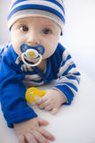 The baby creeps Royalty Free Stock Photos
