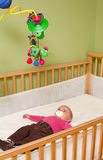 Baby in crib Royalty Free Stock Images