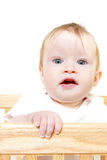 Baby In Crib Stock Photos