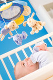 Baby on crib Stock Images