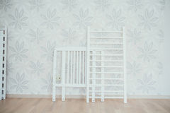Baby crib.dismantled bed Stock Photography