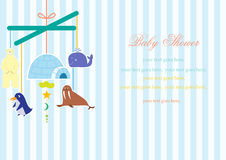 Baby crib hanging toy on stripe backgrounds,Vector Royalty Free Stock Photos