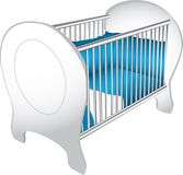 Baby crib illustration Royalty Free Stock Photo