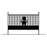 Baby in crib symbol and icon vector illustration Royalty Free Stock Photos