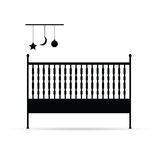 Baby crib vector illustration. On white background Stock Images