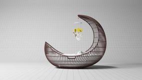 Baby crib vector illustration