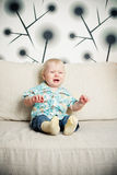 Baby cries Stock Photos