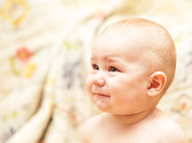 The baby cries Royalty Free Stock Photo
