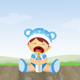 Baby cries Royalty Free Stock Photography