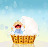 Baby cries Stock Photo