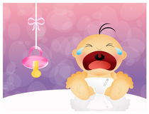 Baby cries Royalty Free Stock Photo