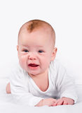 Baby cries Royalty Free Stock Image