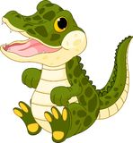 Baby crocodile. Illustration of very cute baby crocodile Stock Photography