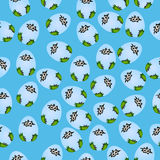 Baby crocodile or alligator. Very high quality original trendy seamless pattern with baby crocodile or alligator in egg Stock Images