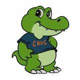 Baby Crocodile cartoon. Vector illustration stock illustration