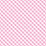 baby cross gingham pink seamless weave Στοκ Εικόνες