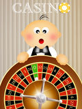 Baby croupier Royalty Free Stock Photo