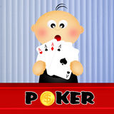 Baby croupier Royalty Free Stock Photography