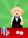 Baby croupier Stock Photography
