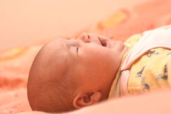 Baby cry. On a photo baby cry Stock Photography