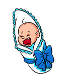 Baby cry cartoon Royalty Free Stock Photos
