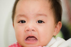 Baby cry. Children were crying and tears Royalty Free Stock Photography