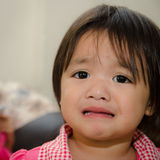 Baby cry. Close up of Thai baby cry Royalty Free Stock Image