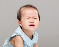 Baby cry. With gray background Stock Images