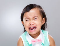 Baby cry. With gray background Stock Image