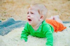 baby crying Στοκ Εικόνες