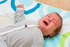 baby crying Στοκ Φωτογραφίες